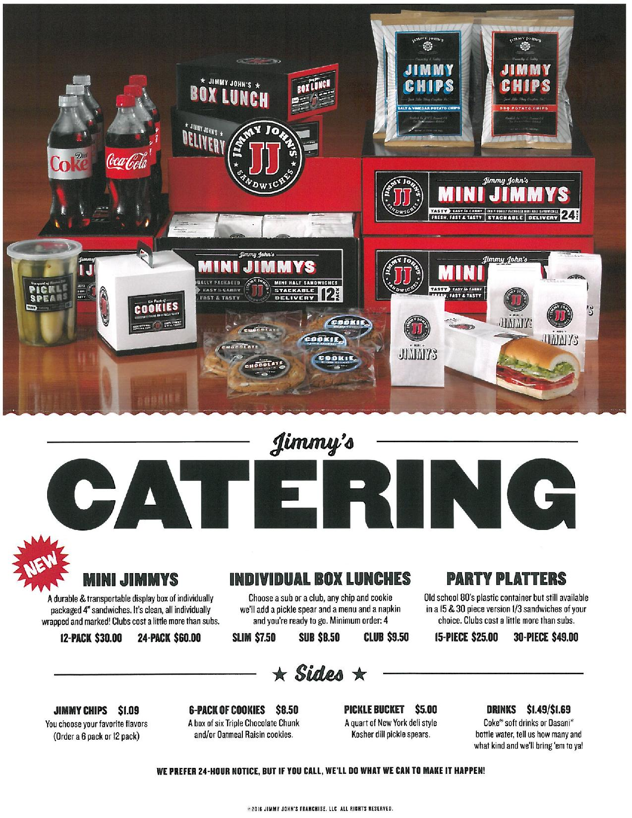 Image result for jimmy johns catering menu