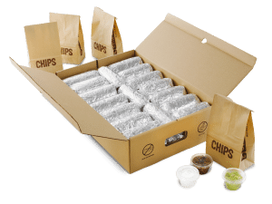 chipotle catering burritos by the box
