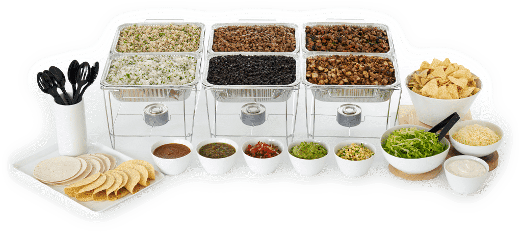 chipotle catering spreads