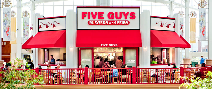 five guys catering menu prices