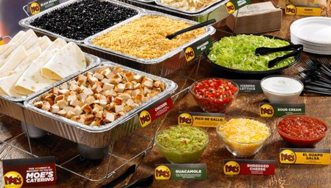 moes catering menu prices