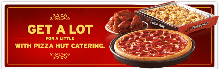 pizza hut catering menu prices