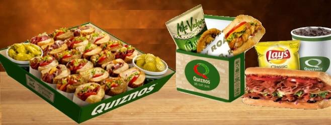 quiznos catering menu prices