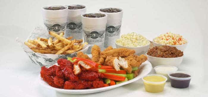 wingstop catering menu prices