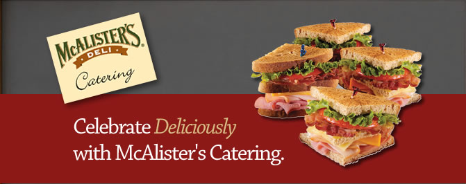 McAlister's Deli Catering Menu Prices