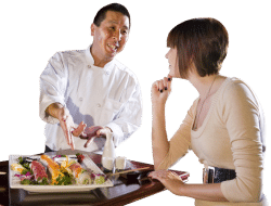 Planning a Corporate Catering Event Choosing a Caterer chef talking