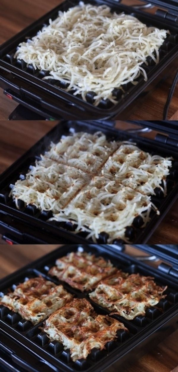 Using Waffle Iron for Hashbrowns
